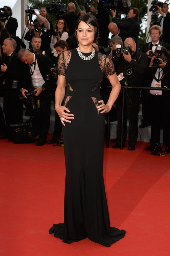 Michelle Rodriguez in Elie Saab